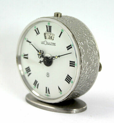 8 Tage Jaeger LeCoultre Reisewecker / 8-day TRAVEL ALARM CLOCK Kaliber 240/3