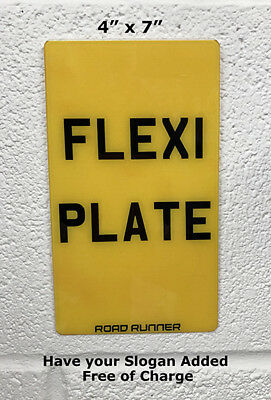 "Flexible  Show Number Plate Enduro Motorcycle Flexi Reg 4"" X 7"""