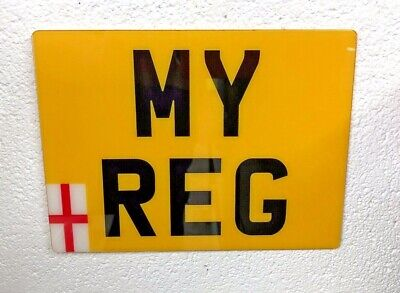 "Flexible Show Number Plate Enduro Motorcycle Flexi Reg 9"" X 7"""