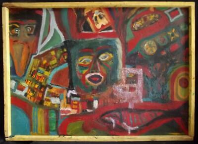 DEGREEF 1959 POP ART Large Period Abstract Oil Painting Very Period & Decorative