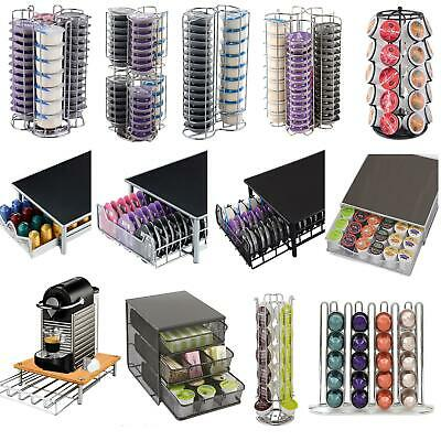 Revolving Coffee Capsule Pod Holders/Drawers/Stand Tassimo/Dolce Gusto/Nespresso