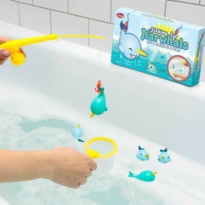 Fishing For Narwhals Bath Toy Game Cute Boy Girl Gift Christmas Stocking Filler