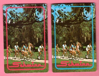 Single Swap Playing Cards SCHWINN BICYCLE ADS PEOPLE RIDING PHOTO VINTAGE 1970s?