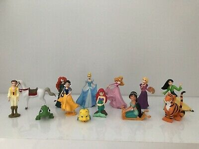 Disney Princess Mini Figures Cake Toppers Belle Aurora Ariel Cinderella Animals