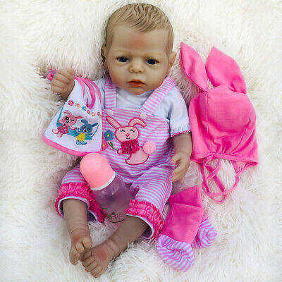 55cm Full Body Silicone Vinyl Reborn Baby Girl Doll Anatomically Correct Toys