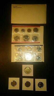 COIN LOT COLLECTION SUSAN B MINT SET + 40 % SILVER half DOLLAR +no junk drawer