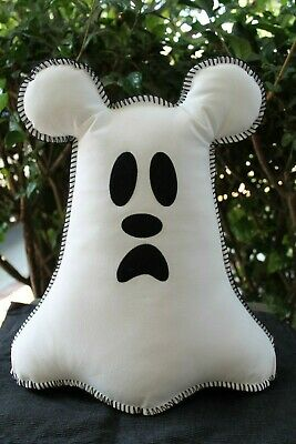 """Disney Parks Halloween 2019 Ghost Mickey Boo To You Pillow 15"""" Plush NEW"""