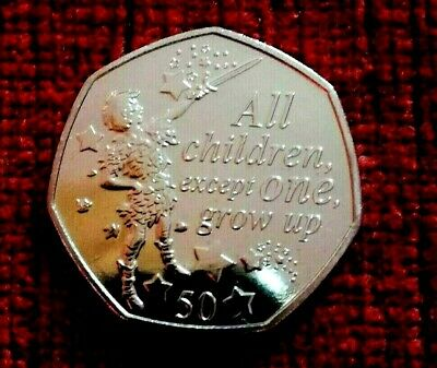 2019 PETER PAN 50 pence coin 90th ANNIVERSARY UNC from a sealed bag