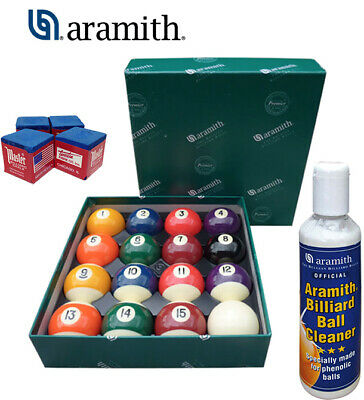 Aramith set bilie 38 biliardo pool + Aramith ball cleaner