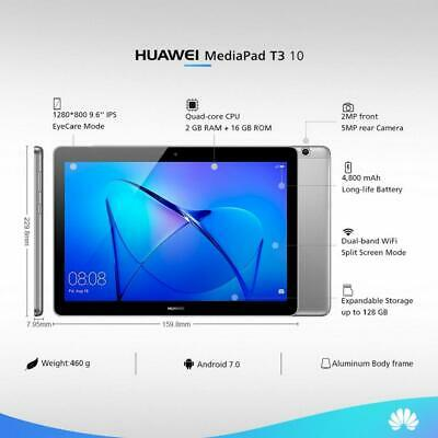 """Huawei MediaPad T3 10 9.6"""" WiFi 16GB Android Tablet - Space Grey"""