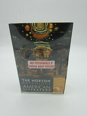 The Norton Anthology of American Literature Vol. 1, Pks. New Sealed Book