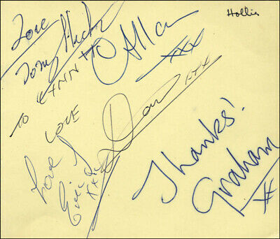 The Hollies - Inscribed Signature With Co-Signers