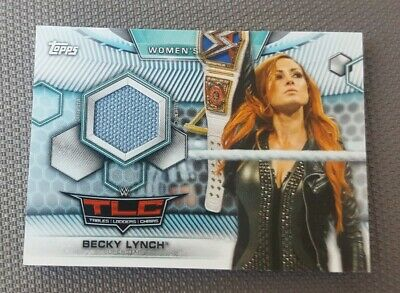 2019 Topps WWE WOMENS DIVISION BECKY LYNCH MAT RELIC /199 + 10 SEALED PACKS