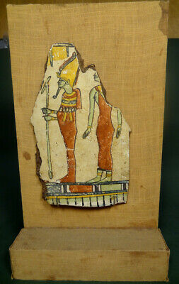 Ancient Painted Fragment Egyptian Late Period 716-30 Bc