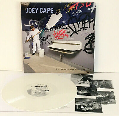 JOEY CAPE let me know when you give up WHITE VINYL Lp Record w/ lyrics, lagwagon