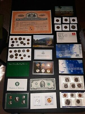COIN LOT BIG collection MINT SETS WHEAT train SILVER DIME PROOF NO JUNK DRAWER