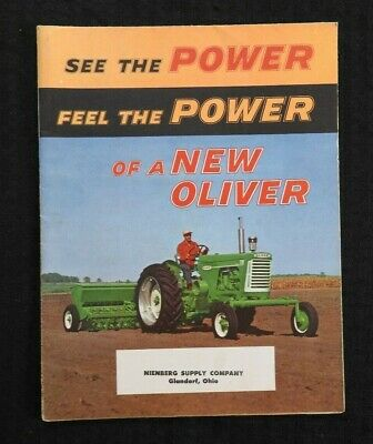 """1958 """"The Oliver 550 770 880 Tractor"""" Catalog Fold-Out Poster Brochure Minty"""