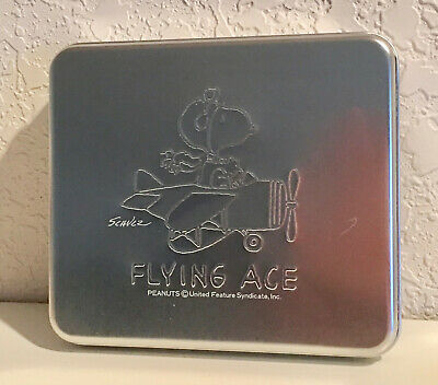 SNOOPY FLYING ACE METAL BOX with STATIONERY