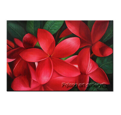 Hand Painted MODERN Wall Art Home Decor Red Egg Flowers OIL PAINTING on Canvas