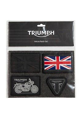 GENUINE Triumph Motorcycles T18 Velcro Patch Set for Luggage NEW 2018