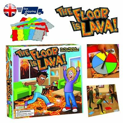 The Floor is Lava! Interactive Board Game for Kids and Adult (Ages 5+) Fun HOT