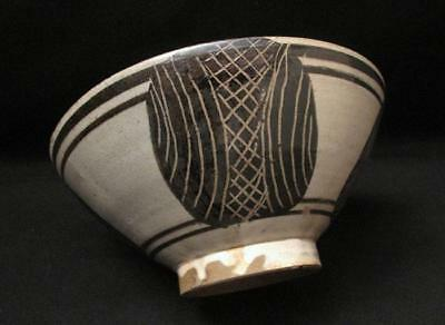Signed Australian Pottery John Bosco Tipiloura 1977 Aboriginal Tiwi Islands Bowl