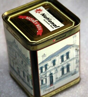 National Australia Bank tin money box Manjimup Hobart Clitfton Hill Blayney
