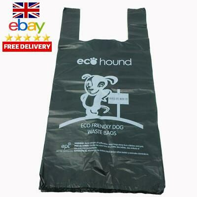 Ecohound 500 Large Thick Premium Quality Dark Green Dog Waste Bags With Easy Tie