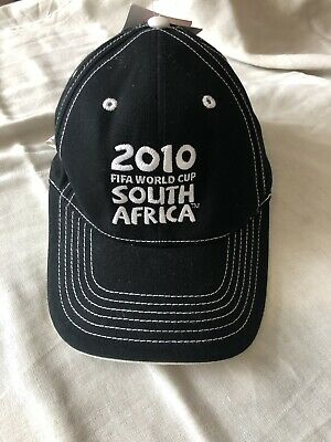 South Africa 2010 FIFA official World Cup Black Baseball Cap RARE BNWT