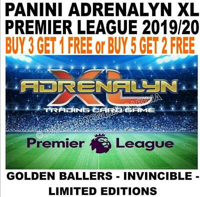 Panini Premier League 2019/20 Golden Ballers/ Invincible/ Ltd Edition Adrenalyn