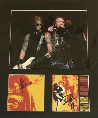 Guns N Roses - Use Your Illusion 1 Signed Autographed Cd 16x12 Mount