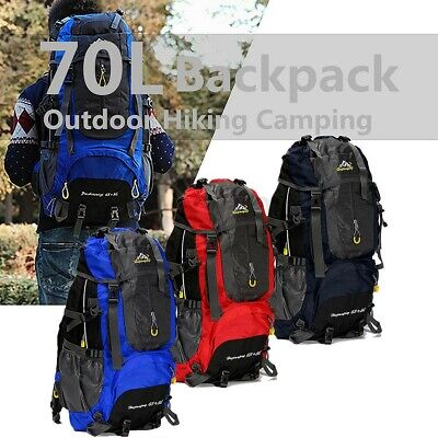 70L Waterproof Rucksack Backpack Bag Outdoor Sports Camping Hiking Trekking