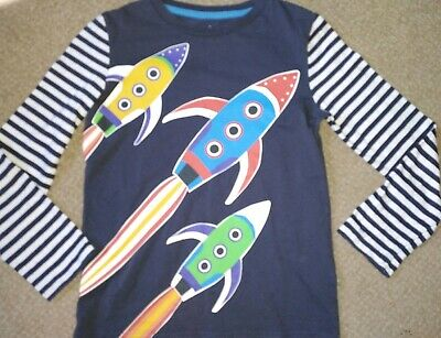 Mini Boden Long Sleeved Top Age 7-8 Rockets