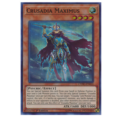 Crusadia Maximus MP19-EN081 Prismatic Secret Rare 1st