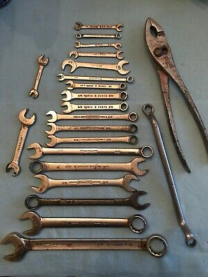 Vintage Used Wrenches 22pcs Blackhawk Armstrong Williams Husky    MPLT-11