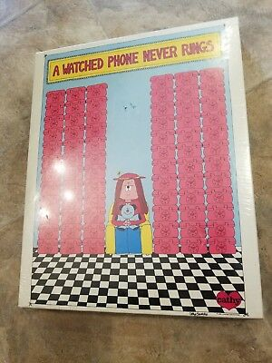 """CATHY Guisewite Cartoon Puzzle """" A Watched Phone Never Rings""""  550 Pcs.1982 NEW!"""