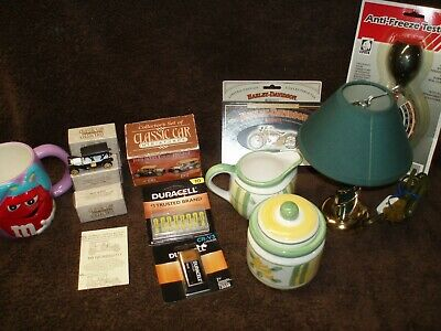 """ Junk Drawer Lot - Various Items - Harley Davidson Cards W/Tin & More """
