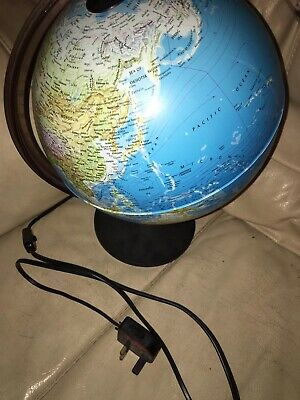 Large Light Up World Globe On A Stand