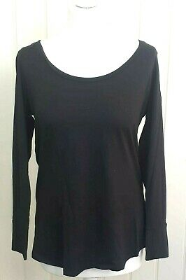 New Look Maternity size 14 black T shirt top blouse (c217)