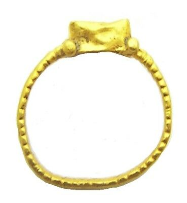 4th - 5th century A.D. Excavated Late Roman Gold Finger Ring