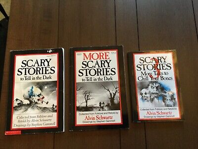 Lot of 3 SCARY STORIES TO TELL IN THE DARK Books MORE, 3 by Schwartz & Gammell