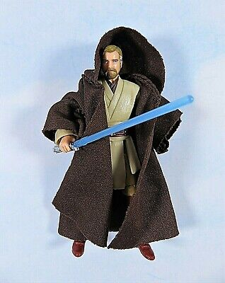 "Star Wars 30th Obi-Wan Kenobi Jedi Master W Robe Saber 3.75"" Action Figure"