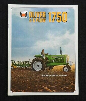 "1968 ""The Oliver 5-6 Plow 1750 Tractor"" Catalog Brochure Very Nice"