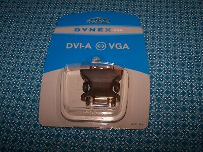 NEW Dynex DVI-A Male to VGA 15-pin Female Video Adapter DX-D1114 Convert Monitor