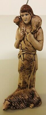 "Antique Porcelain Figurine Signed Lucy Hunter of myths of Ancient Greece 9"" Tall"