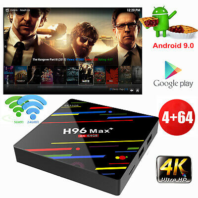 NEW H96MAX+ 4+64G Android 9.0 Quad Core 4K Smart TV BOX DUAL WIFI BT 4.0 USB 3.0