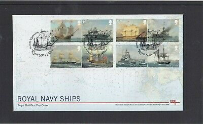 GB 2019 Royal Navy Ships Royal Mail FDC First Day Cover Portsmouth ship spec pmk