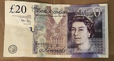 10 x 20 £20 UK Note Realistic Pounds PROP MONEY ACTUAL SIZE DOUBLE SIDED 🔥
