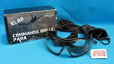 Mil-Tec by Sturm Commando Goggles Clear with Box