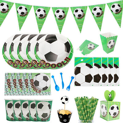 2x BIG Personalised FOOTBALL Fan Birthday Banner Party Kids Ball Fun Decoration